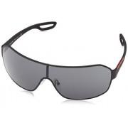 Prada Sport 52QS DG01A1 Black 52QS Visor Sunglasses Lens Category 3