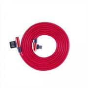 Kabl USB 2.0 na microUSB M/M S-box ugaoni, crvena 1.5m