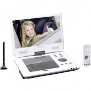 "Lenco DVP-1063WH Prijenosni DVD player 25.4 cm 10 "" Rad na baterije, Uklj. 12V auto kabel za napajanje, S integriranim DVD playe"