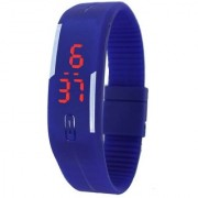 Ultra Thin Men Women Unisex LED Digital New Blue Design Sports Watch Hurry Up