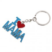 NF&E I Love Mama Pendant Key Ring Keychains Kids Xmas Gifts Keychain Kid Blue Red