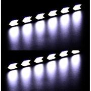 EY Forma De Flecha LED COB Auto Del Coche Luz DRL Luz Corriente Diurna De La Lámpara De Conducción-Negro Y Amarillo