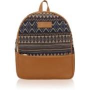 Kleio Beautiful Stylish Spacious Jacquard Backpacks for Girls / Women 11.4 L Backpack(Blue, Beige, Tan)