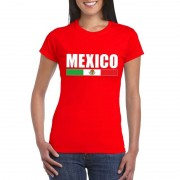 Shoppartners Rood Mexico supporter t-shirt voor dames