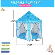 Shuban Foldable Star Pattern Hexagon Castle Play Tent with Mosquito Net Design Indoor & Outdoor Activities for Kids
