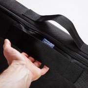 Lumaland - opbergtas/draagtas voor beddengoed - voor dekbed en kussen - ritssluiting en handvaten - 70 x 140 x14 cm