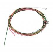 EH Coloridos 1-6 EBGDAE Rainbow Cuerdas Coloridas Conjunto Para Guitarra Acústica