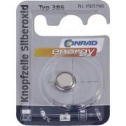 Baterie buton oxid de argint 386, 1.55 V, 130 mAh, Conrad energy SR43