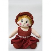Baby Doll Girl Sweety Flower Red Color by Lovely Toys