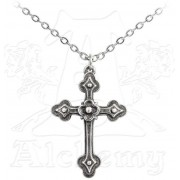 obojek Gothic Devotion Cross - ALCHEMY GOTHIC - P698