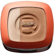 L`Oreal Glam Bronze Podwójny puder brązujący dla blondynek 101