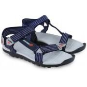 Lotto Men Grey/black Sports Sandals