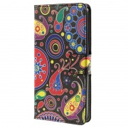 Huawei Y635 Stylish Wallet Case - Paisley Pattern