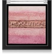 Makeup Revolution Shimmer Brick bronceador e iluminador 2 en 1 tono Pink Kiss 7 g