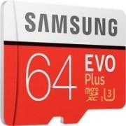 Samsung EVO Plus 64 GB MicroSDXC Class 10 100 MB/s Memory Card(With Adapter)