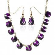 Nina Leonard Set collana e orecchini pendenti con cristalli