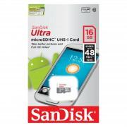 SanDisk Ultra Android microSDHC 16GB 48MB/s Class 10 UHS-I SDSQUNB-016G-GN3MN Memorijska kartica SDSQUNB-016G-GN3MN
