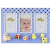Rama foto multipla baby dots Procart format 6x8 cm Albastru