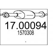 MTS Filtro hollín/partículas, sistema escape MTS 17.00094