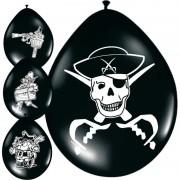 Geen Zwarte piraten ballonnen 8x stuks