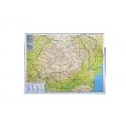HARTA ROMANIEI RUTIERA-TURISTICA PE SUPORT MAGNETIC 115x85 cm