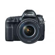 Aparat Foto D-SLR Canon EOS 5D Mark IV + obiectiv 24-105mm 1:4L IS II USM, Filmare 4K, Procesor DIGIC 6+, WiFi, NFC, GPS (Negru)