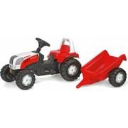 Tractor Cu Pedale Si Remorca ROLLY TOYS 012510 Alb Rosu