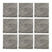 抗菌防臭 吸着シャギーマット 30x30cm 9枚セット【QVC】40代・50代レディースファッション