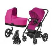 Cybex Balios S 2w1 gondola + spacerówka + adaptery - Passion Pink