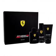 Ferrari Scuderia Ferrari Black sada toaletní voda 125 ml + sprchový gel 150 ml + deodorant 150 ml pro muže