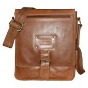 Kan Brown Genuine Leather Shoulder Bag/Messenger Bag/Backpack for Men & Women 7 L Backpack(Brown)