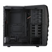 "CARCASA CM STORM Enforcer, window version, mid-tower, ATX, 1* 200mm red LED fan & 1* 120mm (inclus), I/O panel, front panel door, black ""SGC-1000-KWN1"""