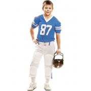 Disfraz Jugador Fútbol Americano azul para niño