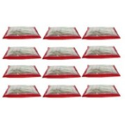 Felory SC.NW_R High Quality Pack of 12 Red Bridal Single saree travelling bag case Gift Organizer bag vanity pouch Keep saree/Suit/Travelling Pouch (Red) SC.NW_R(Red)