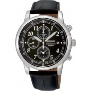 Seiko SNDC33P1 horloge heren - zwart - edelstaal