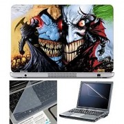 FineArts Laptop Skin - Batman Opposition With Screen Guard and Key Protector - Size 15.6 inch