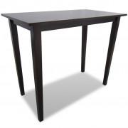 vidaXL Brown Wooden Bar Table