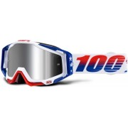 100% Racecraft Plus MXDN Limited Edition Motocross Goggles White Blue One Size