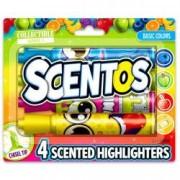 Set 4 markere evidentiatoare parfumate Scentos