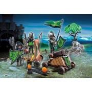 Playmobil Caballeros del Lobo con Catapulta