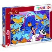 Puzzle Clementoni SuperColor: Disney Aladdin, 104 piese