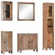 vidaXL Set mobilier de baie, 5 piese, lemn masiv de acacia