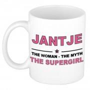 Bellatio Decorations Jantje The woman, The myth the supergirl bedankt cadeau mok/beker 300 ml keramiek