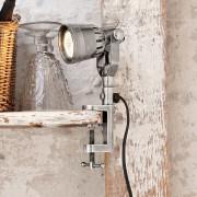 LOBERON Klemlamp Cam / antiekzilverkleurig