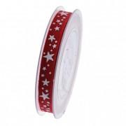 Szalag fehér csillagokkal 15mmx15m piros