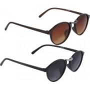 Vast Round Sunglasses(Grey, Green)