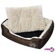 vidaXL Topli krevet za pse s podstavljenim jastukom M