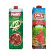 Dimes 100% gránátalmalé + Dimes Active Csipkebogyó gyümölcs nektár 1000ml 12+12db