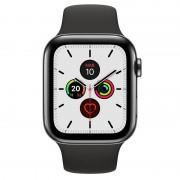 Apple Watch Series 5 GPS 40mm + Cellular Aço Inoxidável Preto Sideral com Bracelete Desportiva Preta