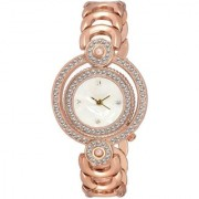 idivas 104copper dial copper strap mind blowing watch for girls woman 6 month warranty